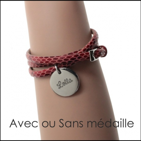 Bracelet Cuir double sangle