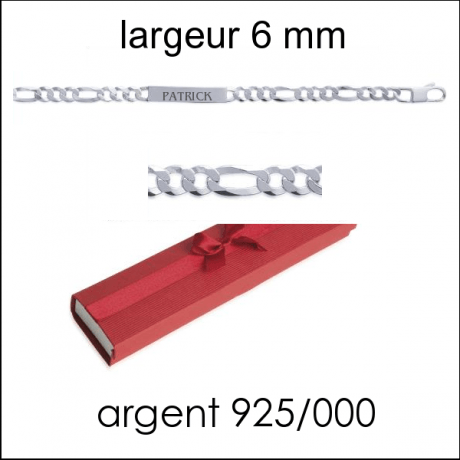 Gourmette H larg : 6 mm