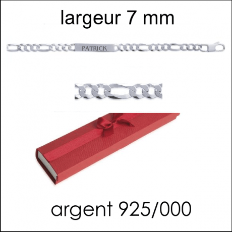 Gourmette H larg : 7 mm