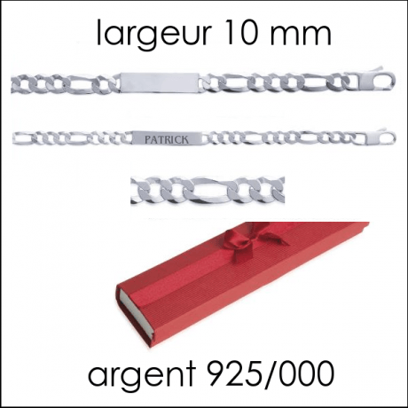Gourmette H larg : 10 mm