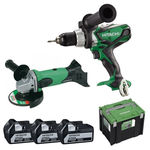 Pack Perceuse-visseuse, Meuleuse 18V 5 Ah HITACHI