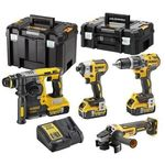 Pack complet de 4 machines Meuleuse Perforateur Visseuse DEWALT
