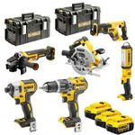 Kit 6 outils XR 18V 5AH Li-on DEWALT