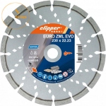 Disque diamant EURO ZML EVO 230 mm alésage 22,23 mm Norton Clipper