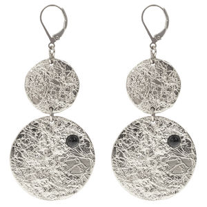Earrings Froissee Double P