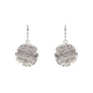 Earring Tweed Médaille PM