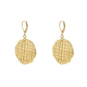 Earring Tweed Medaille MM