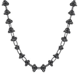 Collier Entrelacs Black