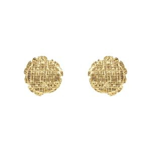 Earring Tweed Medaille Clip