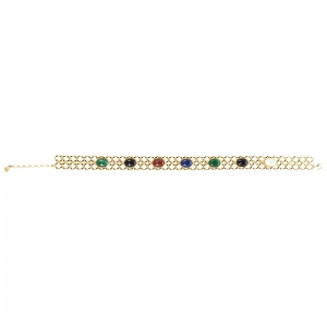 Chocker Gourmette 7 Pierres PM