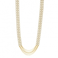 Gourmette PM Long Necklace