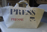 Small, mid or big size stencilled carrier bags