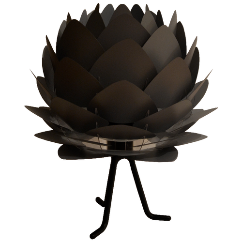Grey Artichoke lamp Small lampshade With Small footer