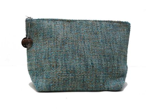 Mid-size Lagoon colored Tweed holdall pouche