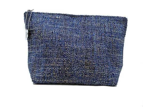 Mid-size Ocean colored Tweed holdall pouche