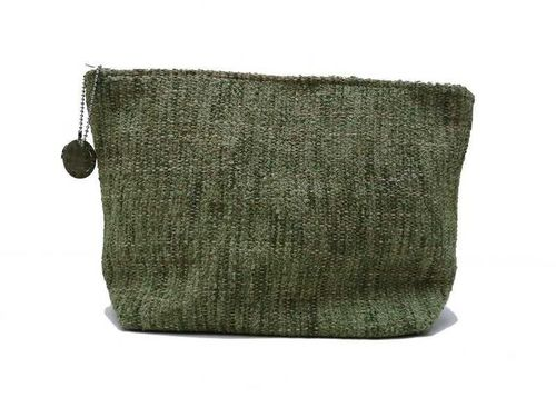 Mid-size Prairie colored Tweed holdall pouche