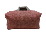 Week-end bag, 2 linen handles, Coral colored Tweed