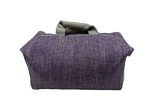 Week-end bag, 2 linen handles, lavander colored Tweed
