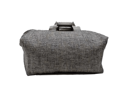 Sac de week-end, 2 anses en lin, Tweed couleur pierre