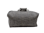 Week-end bag, 2 linen handles, Stone colored Tweed