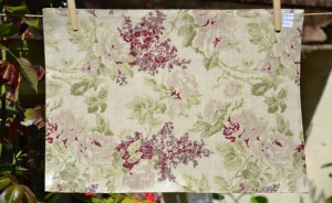 Rectangular place mat, MilleFond flowers plastified linen