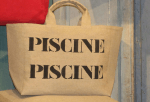"Mid-size bag, black stencilled ""Piscine"