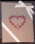 Embroidered book A4 21x29,7 Heart