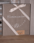 "Photos-Album 23x30.  ""Communion"" (linen, flowers)"