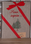 "Ph-Alb(Chrismas collection) 23x30  ""Sous le pine tree"" (pine tree) (linen)"