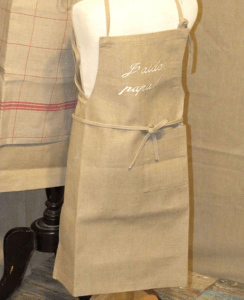 "Child apron  ""J'aide Papa""  linen"