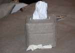 Kleenex box cover, linen