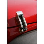 Attache capot inox .Jeep Wrangler JK 07-14