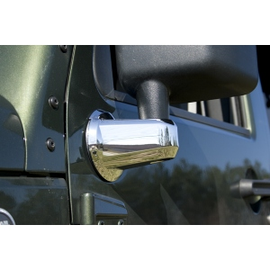 Caches supports de retroviseurs D&G chromés Jeep Wrangler JK 07-14