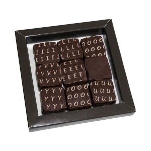 Boîte I Love You de 9 chocolats