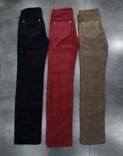 Pantalon VELOURS côtelé uni COULEUR femme YZY SWALLOW JEANS Y.Z.Y fashion wear