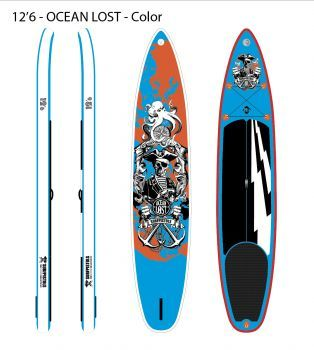 SURFPISTOLS GHOST BLUE 12'6 31'' 6""
