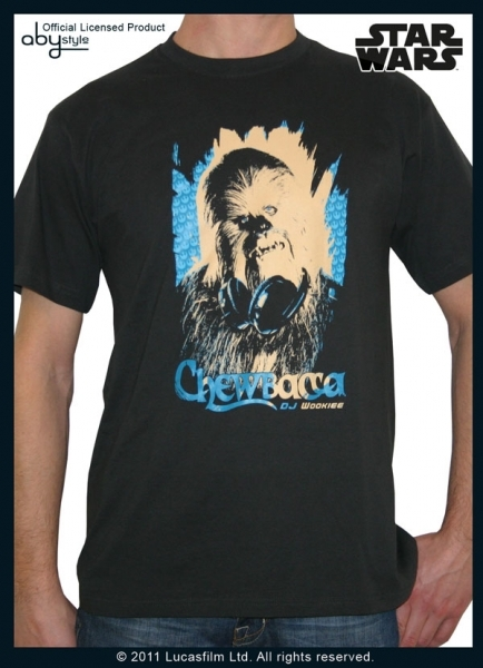 Star wars T-shirt DJ Wookie Chewbacca dark grey Abystyle