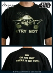 STAR WARS T-shirt Yoda There is no Try Abystyle