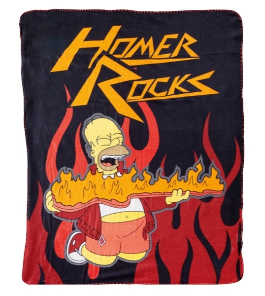 SIMPSONS couverture polaire Homer Rocks 130x170