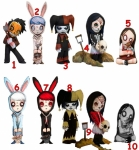 Living Dead Dolls série 1 assortiment trading figures 5 cm Mezco AU CHOIX