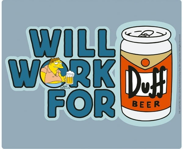 SIMPSONS - Tapis de souris - Will work for Duff Beer ABYstyle