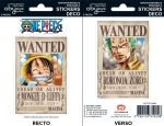 One Piece - Stickers - 16X11Cm/ 2 Planches - Wanted Luffy/ Zoro ABYstyle
