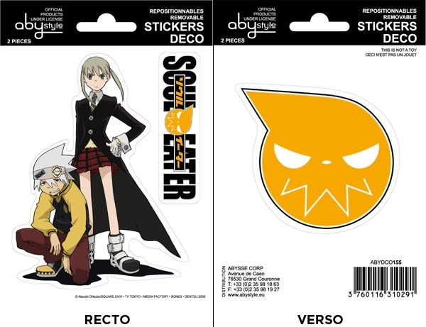 Soul Eater - Stickers - 16x11cm/ 2 planches - Soul Eater/ Maka ABYstyle