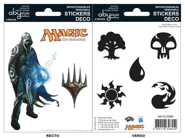 MAGIC - Stickers - 16x11cm/ 2 planches - Jace Mana ABYstyle