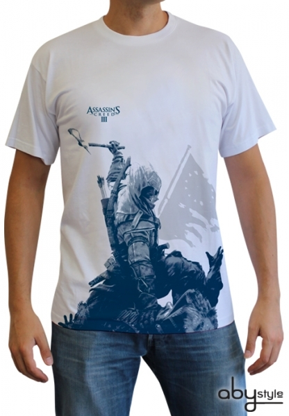 Assassin's Creed 3 III - T-shirt Connor à genoux Homme Abystyle