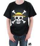 One Piece - T-shirt Skull With Map Luffy Enfant Abystyle