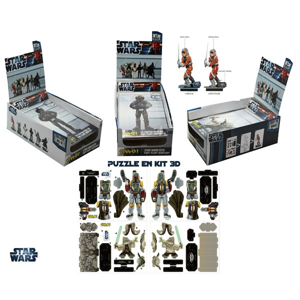 Star Wars - Kit de Construction Figurine 12 cm Au choix