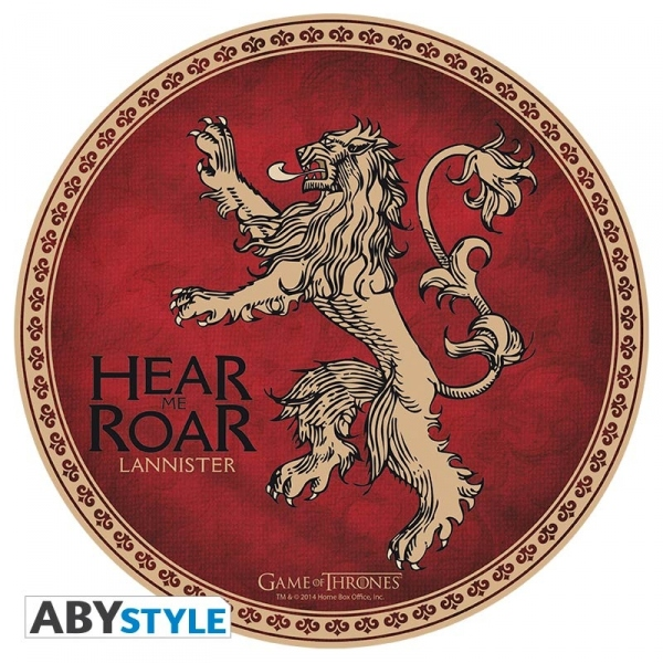 Game Of Thrones Tapis De Souris Lannister Abystyle