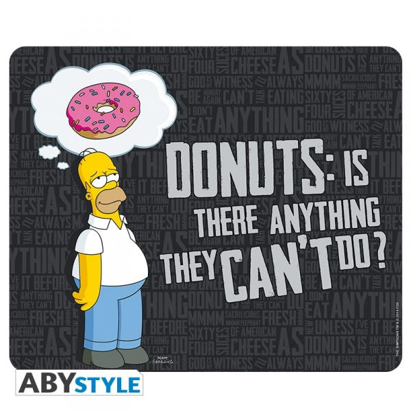 Simpsons Tapis De Souris Homer Simpsons Donuts Abystyle