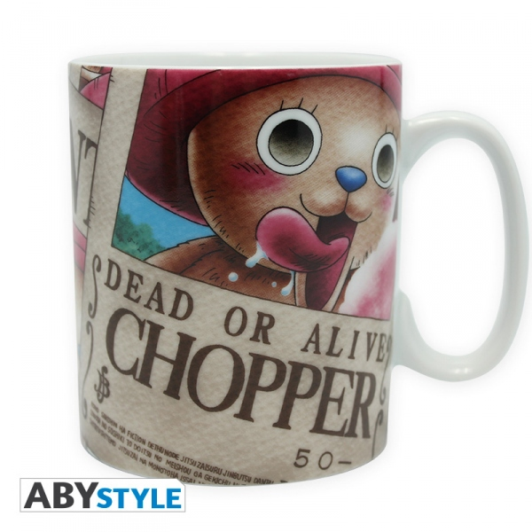 One Piece mug 460 ml Chopper Wanted Porcelaine Abystyle